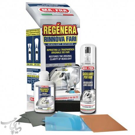 کیت پولیش و ترمیم کننده چراغ مفرا MAFRA Regenera Headlight Kit |