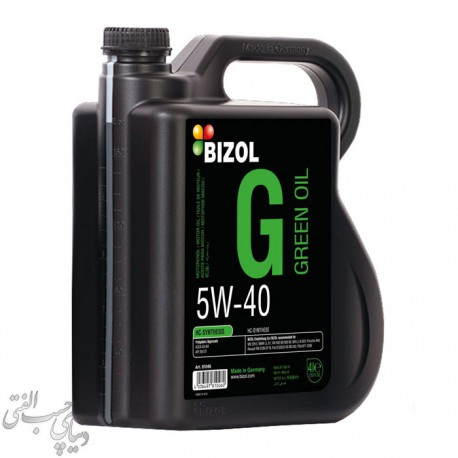 روغن موتور 4 لیتری بیزول BIZOL Green Oil 5W-40 SN