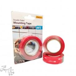 چسب دو طرفه بی رنگ پوست قرمز وی چی بی تری ام 3M VHB Mounting Tape