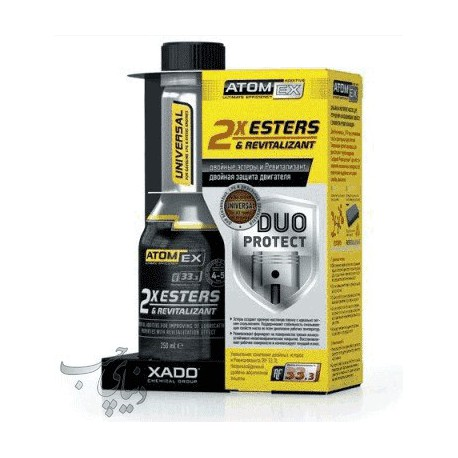 احیاگر و کیفیت دهنده روغن موتور زادو XADO Atom Ex 2Xesters & Revitalizant